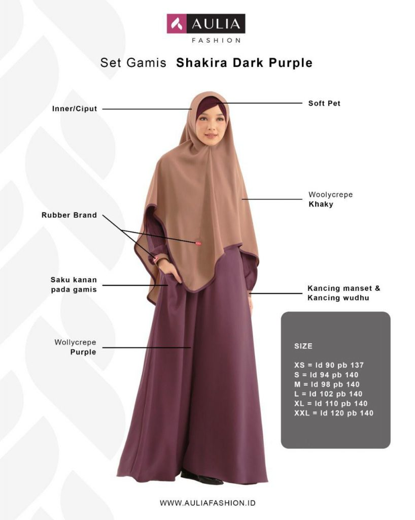 Gamis Shakira Dark Purple